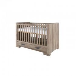 Κρεβάτι Βρεφικό Με Συρτάρι ( 0.70x1.40 cm) Lodge Grey Oak