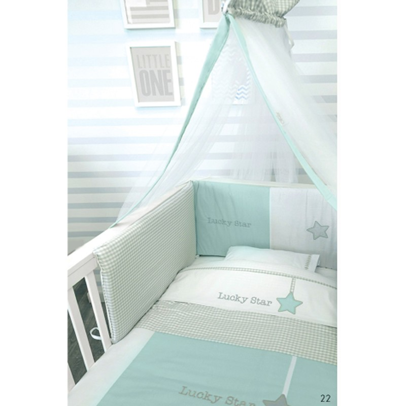 Baby Oliver Σετ Προίκας 3τεμ Lucky Star Blue- 304