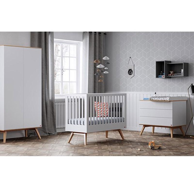 Bebejou - Βρεφικό δωμάτιο Nature Baby White/Oak