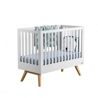 Vox - Βρεφικό κρεβάτι Nature Baby White/Oak 0.70 x1.40