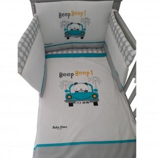 Beep Beep 3000 Προίκα μωρού με τύπωμα 4 τεμαχίων