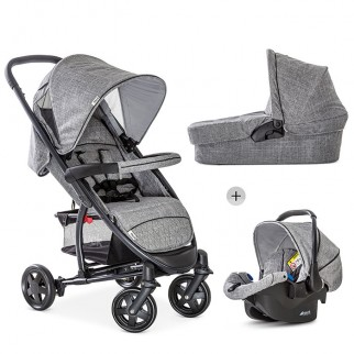 Hauck - Πολυκαρότσι Malibu 4 Trio Set Melange Grey