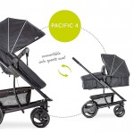 Hauck - Πολυκαρότσι Pacific 4 Shop N Drive Melange-Charcoal
