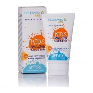 Helenvita - Αντηλιακό γαλάκτωμα Sun Kids emulsion SPF 50 Face & Body 150 ml