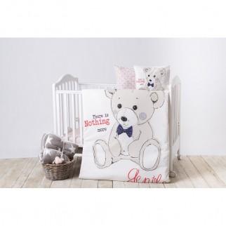 Kikkaboo Σετ Προίκας Μωρού Για Κούνια Teddy Bear