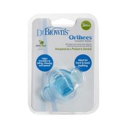 Πιπίλα Dr. Brown's Οδοντοφυΐας Μπλε