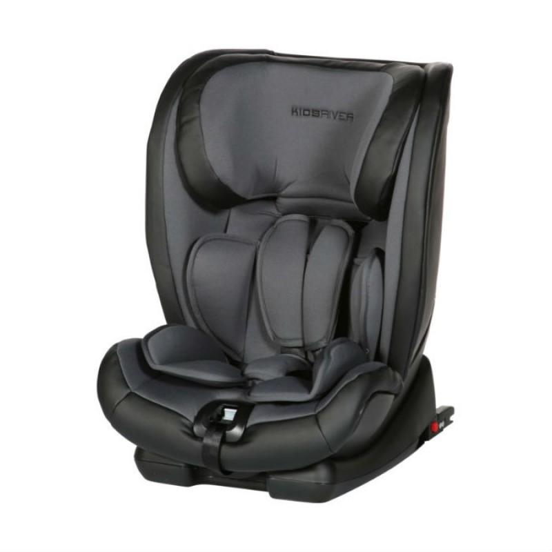 Kidsriver Παιδικό Κάθισμα Αυτοκινήτου 9-36 kg Louis Isofix Και Ζώνη Anthracite