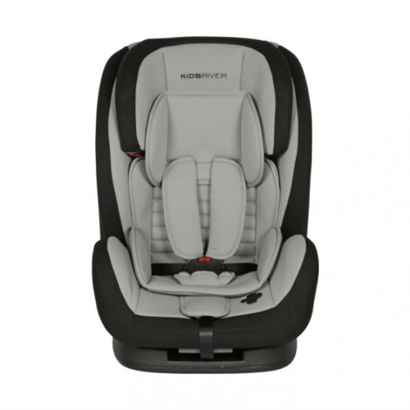 Kidsriver Παιδικό Κάθισμα Αυτοκινήτου 9-36 kg Liz Grey Με Ζώνη
