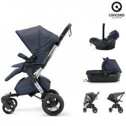 Concord Πολυκαρότσι 3 Σε 1 Neo Travel Set Steel Grey