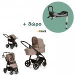 Hauck Πολυκαρότσι Soul Plus Trio Set Melange Beige Almond Δώρο Η Βάση Isofix